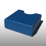 PE300UV-S kék 19 x 1500 x 3000 mm - PE-HD (nagy sűrűségű polietilén), UV-álló, strukturált felületű műanyag tábla