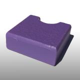 PE300UV-S lila 15 x 1500 x 3000 mm - PE-HD (nagy sűrűségű polietilén), UV-álló, strukturált felületű műanyag tábla