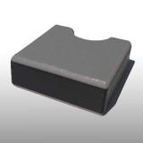 PE300SG szürke-fekete-szürke 15 x 1500 x 3000 mm - PE-HD (nagy sűrűségű polietilén), UV-álló, csúszásmentes felületű műanyag tábla