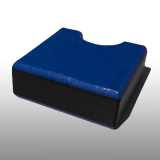 PE300UV-STC kék-fekete-kék 19 x 1500 x 3000 mm - PE-HD (nagy sűr. polietilén), UV-álló, strukturált f., 3 rétegű műanyag tábla