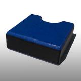 PE300UV-STC kék-fekete-kék 15 x 1500 x 3000 mm - PE-HD (nagy sűr. polietilén), UV-álló, strukturált f., 3 rétegű műanyag tábla