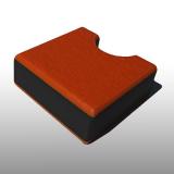 PE300UV-STC narancssárga-fekete-n. 12 x 1500 x 3000 mm - PE-HD (nagy sűr. polietilén), UV-álló, strukturált f., 3 rétegű műanyag tábla