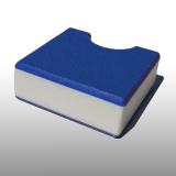 PE300UV-STC kék-fehér-kék 15 x 1500 x 3000 mm - PE-HD (nagy sűr. polietilén), UV-álló, strukturált f., 3 rétegű műanyag tábla