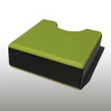 PE300UV-STC pisztáciazöld-fekete-p. 10 x 1500 x 3000 mm - PE-HD (nagy sűr. polietilén), UV-álló, strukturált f., 3 rétegű műanyag tábla