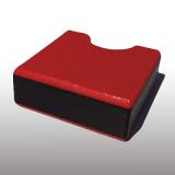 PE300UV-STC piros-fekete-piros 12 x 1500 x 3000 mm - PE-HD (nagy sűr. polietilén), UV-álló, strukturált f., 3 rétegű műanyag tábla