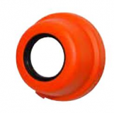626213 - Rexnord (Marbett) COVER-MB 205 25 OP O csapágyfedél, nyitott, átm.: 25 mm, narancssárga, cikksz.: 10285506