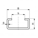 Murtfeldt acélprofil C-profil, C-6 horganyzott 2000 mm (2 m-es szálakban)