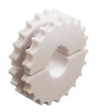 Rexnord fogaskerék, forgácsolt PA, osztott, Z=23, f.: 40mm, reteszhorony nélkül (kód: 754.61.44, cikkszám: 10328678)