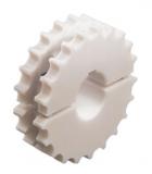 Rexnord fogaskerék, forgácsolt PA, osztott, Z=19, f.: 40mm, reteszhorony nélkül (kód: 754.61.42, cikkszám: 10328702)