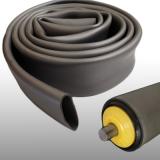 Görgőbevonó cső, PVC, D50mm csőre (alapméret: d45x2mm), szürke (kód: LOR_M_PVCbev_50x2)