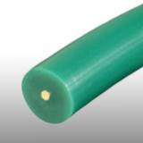 10 mm zöld körszíj, aramidszál erősítéssel, sima