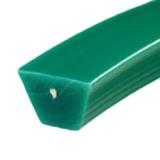 22x14 zöld ékprofil, aramidszál erősítéssel