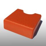 PE300UV-S narancssárga 12 x 1500 x 3000 mm - PE-HD (nagy sűrűségű polietilén), UV-álló, strukturált felületű műanyag tábla