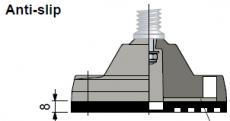 R0000630092 - Rexnord (Marbett) ANTI SLIP 169-170 gumilap átm. 124 géptalphoz, erősítő tárcsa nélkül, cikksz.: 10284856